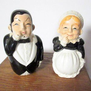 Vintage Butler & Maid Salt & Pepper Shaker
